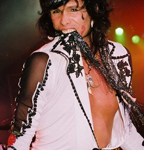 Steven Tyler of Aerosmith during the bands 1989 tour in Costa Mesa, Ca.
