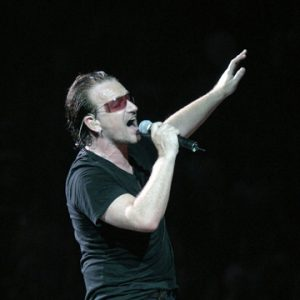 U2's Bono in San Jose during the 2005 tour.