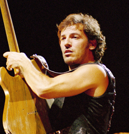Bruce Springsteen performs in Los Angeles in 1991.