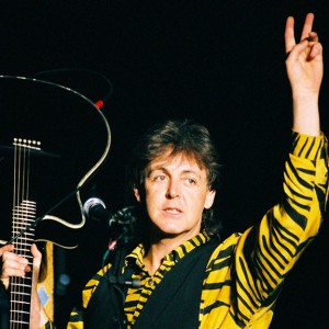Paul McCartney during his 1989 tour at the Los Angeles Forum.