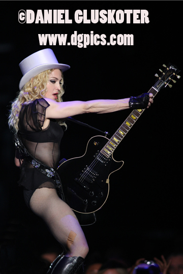 Madonna performs in Oakland on November 1, 2008.