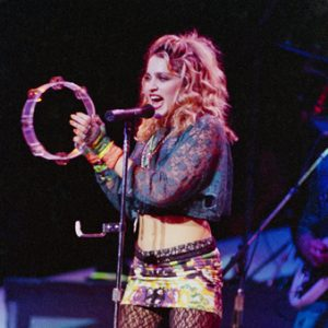 Madonna performs in Seattle in 1985.