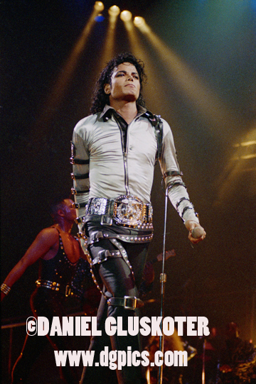 Michael Jackson during the Bad tour at the Los Angeles Sports Arena.