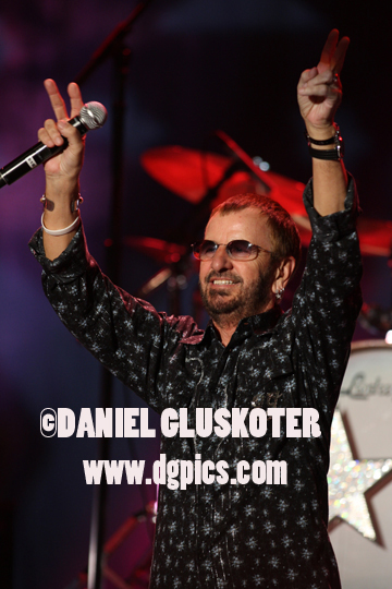 Ringo Starr performs during his 2008 All-Starr's tour.