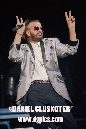 Ringo Starr performs at the Greek Theater in Los Angeles in 1989.