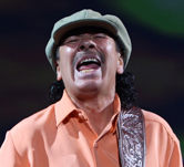 Carlos Santana performs during a 2009 concert at the Hard Rock in Las Vegas.