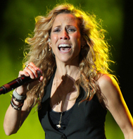 Sheryl Crow at the Bumbershoot Festival in Seattle on September 5, 2009.