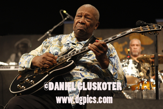 B.B. King performs at the 2010 New Orleans Jazz Festival in New Orleans, Louisiana.