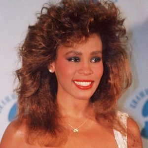 Whitney Houston at the Grammy Awards in 1986.