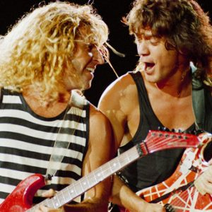 Sammy Hagar and Eddie Van Halen during the 5150 tour in San Diego.