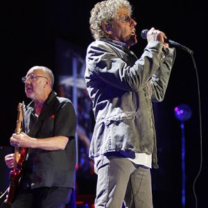 Roger Daltrey and Pete Townshend of The Who perform at the Reno Events Center on February 2, 2013.