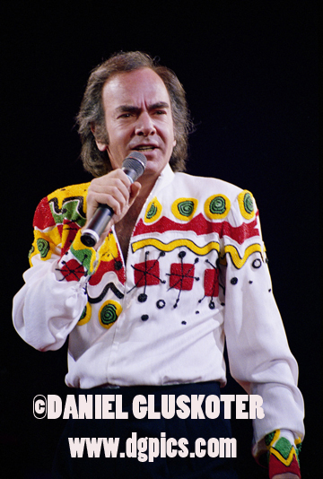 Neil Diamond performs at the Los Angeles Forum.